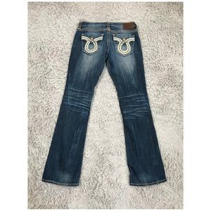 Liv 31x31 Boot Cut Flap Pocket Thick Stitch Jeans